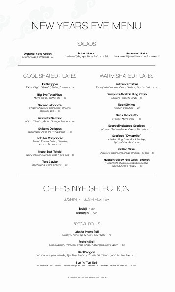 New Years Eve Menu Template Beautiful New Years Eve Menu â Lbt Great Gatsby Ties and