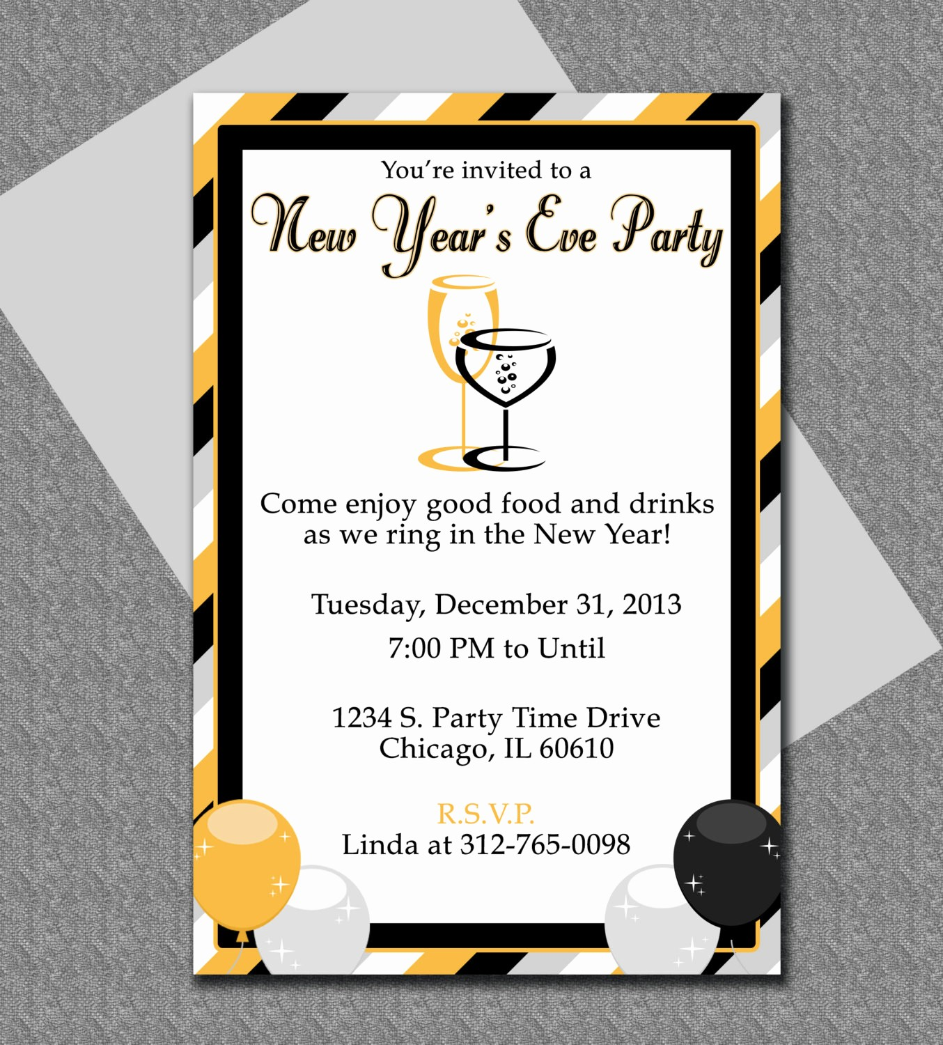 New Years Eve Menu Template Beautiful New Years Eve Party Invitation Editable Template