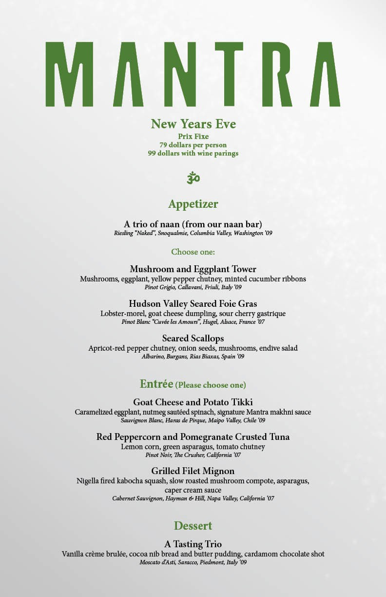 "New Years Eve Menu Template Best Of Mantra New Years 2011 – ""la Fête Magnifique"""