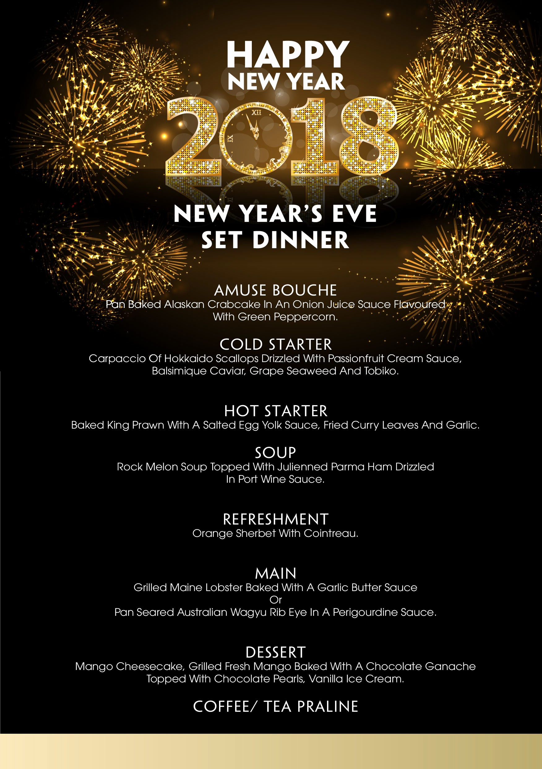 New Years Eve Menu Template Elegant New Year Newar Menu Idea forars Eve Luncheonnew Quick
