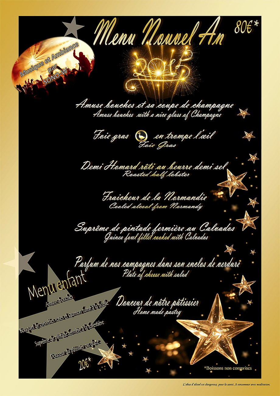 New Years Eve Menu Template Lovely Hotel Restaurant De La Plage New Year S Eve Menu