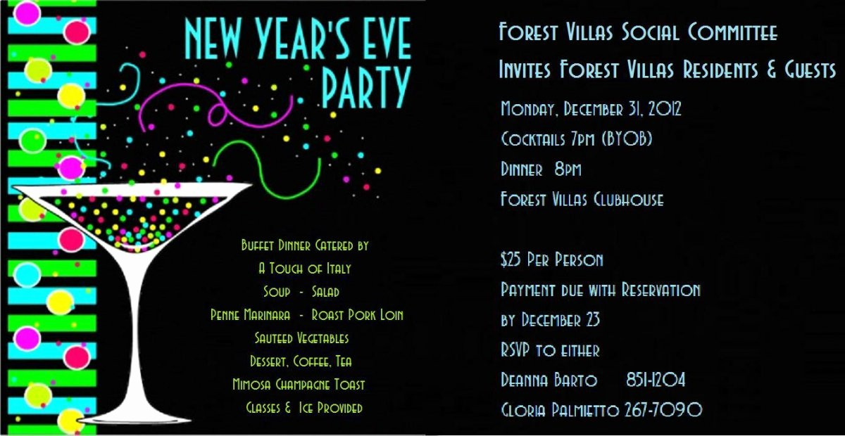 New Years Eve Menu Template Lovely New Years Eve Party Invitation Template – orderecigsjuicefo
