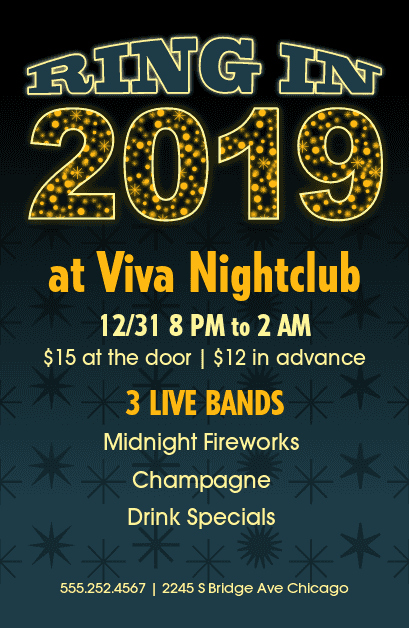 New Years Eve Menu Template Lovely New Years Party Flyer