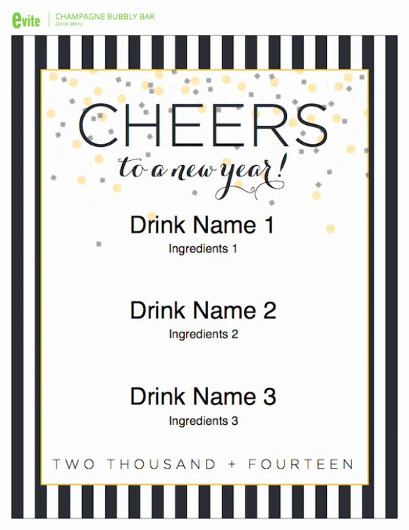 New Years Eve Menu Template Luxury 4 Easy Tips for Throwing A New Year S Eve Party
