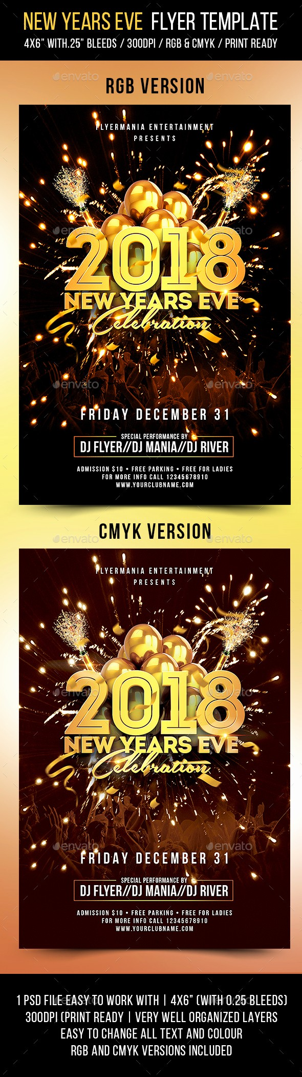 New Years Eve Menu Template Luxury New Years Eve Flyer Template by Flyermania