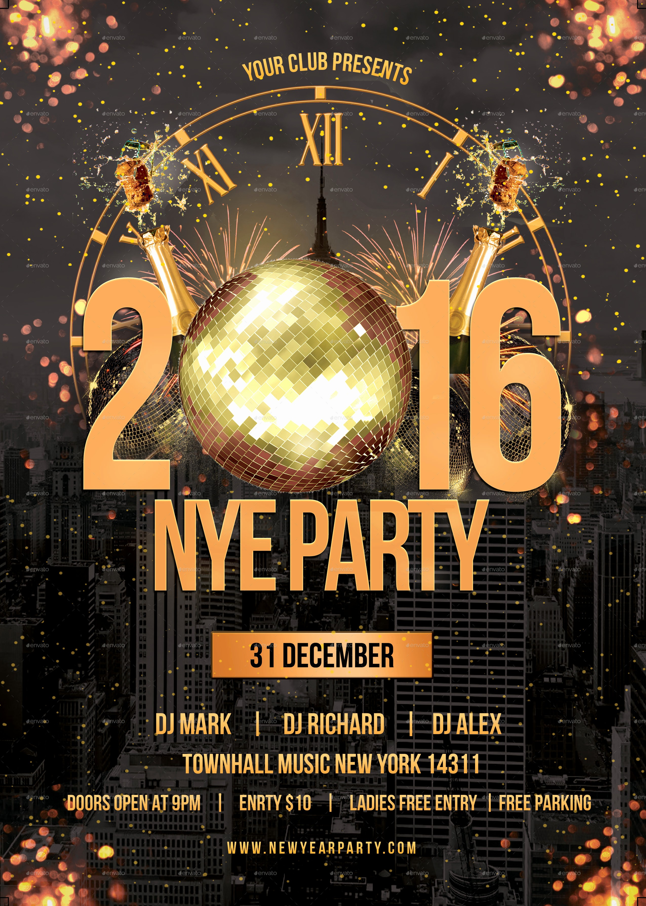 New Years Eve Party Checklist Awesome Free New Years Eve Flyer Template Portablegasgrillweber