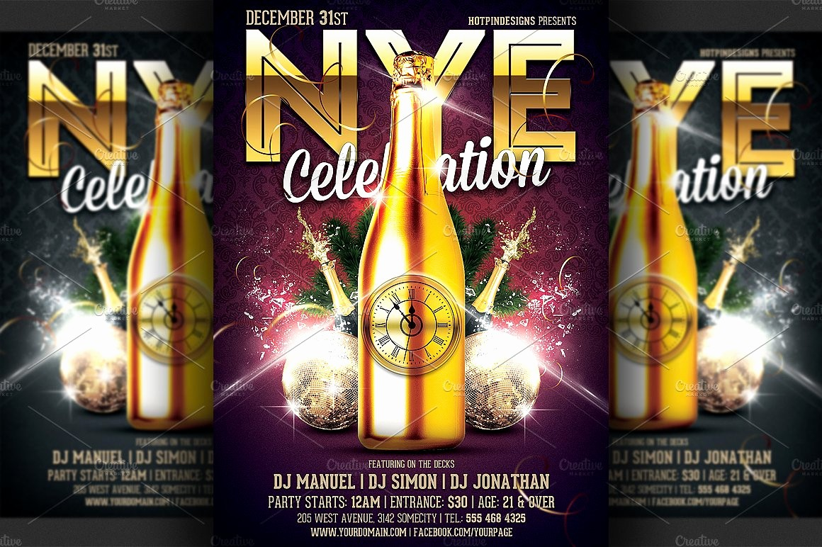 New Years Eve Party Checklist Best Of New Years Eve Party Flyer Template Flyer Templates