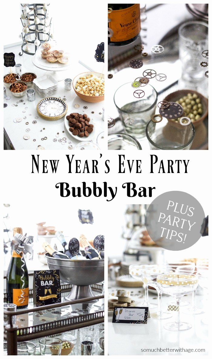 New Years Eve Party Checklist Elegant A New Year S Eve Party Bubbly Bar Party Tips