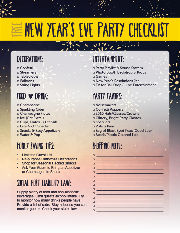 New Years Eve Party Checklist Fresh Hosting A New Year S Eve Party American Heritage
