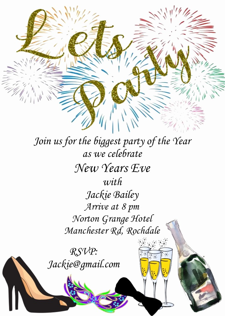 New Years Eve Party Checklist Fresh New Year S Eve Party Invitations 2018