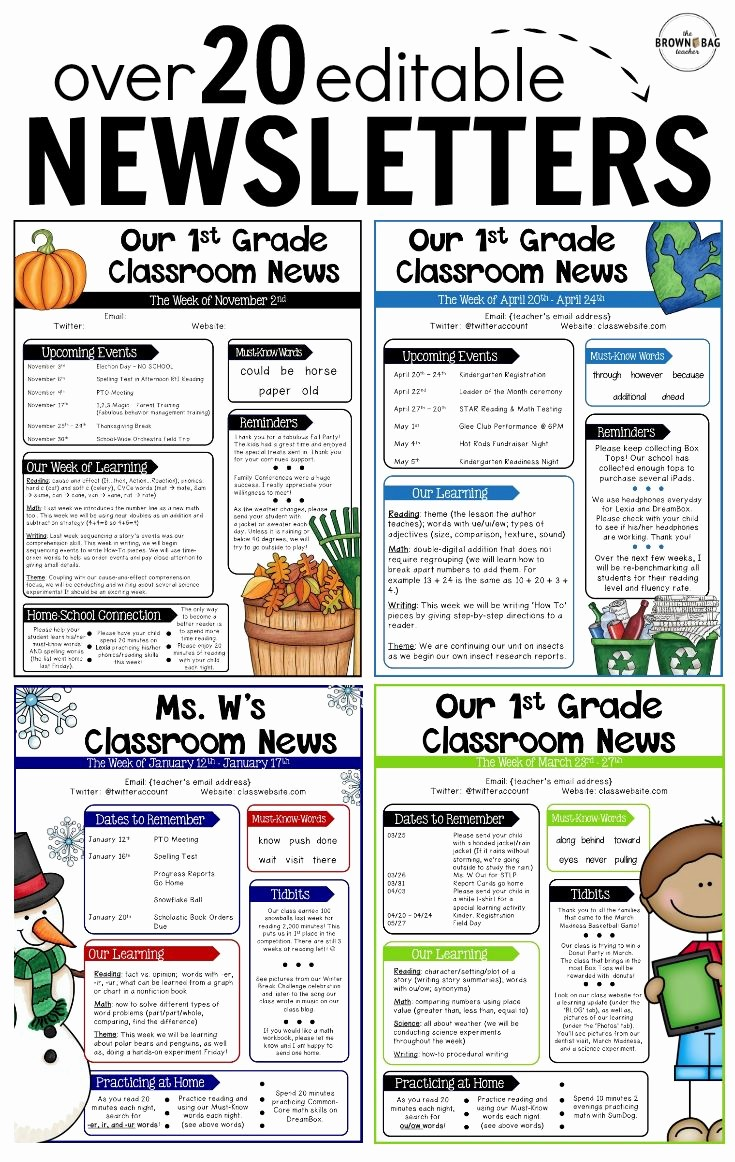 News Letter Templates for Teachers Awesome Best 25 Teacher Newsletter Ideas On Pinterest