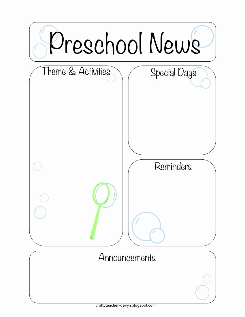 News Letter Templates for Teachers Awesome Newsletter Templates