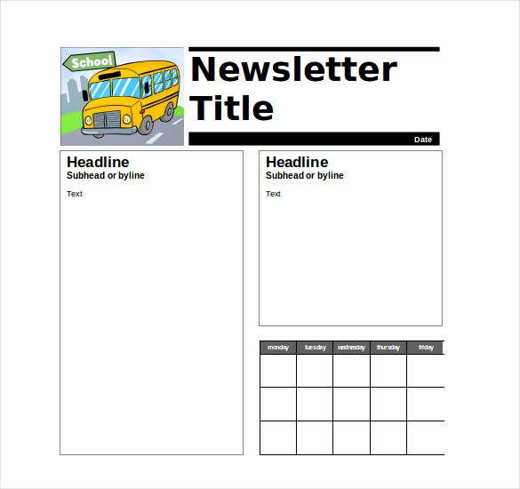 News Letter Templates for Teachers Beautiful 9 Teacher Newsletter Templates – Free Sample Example