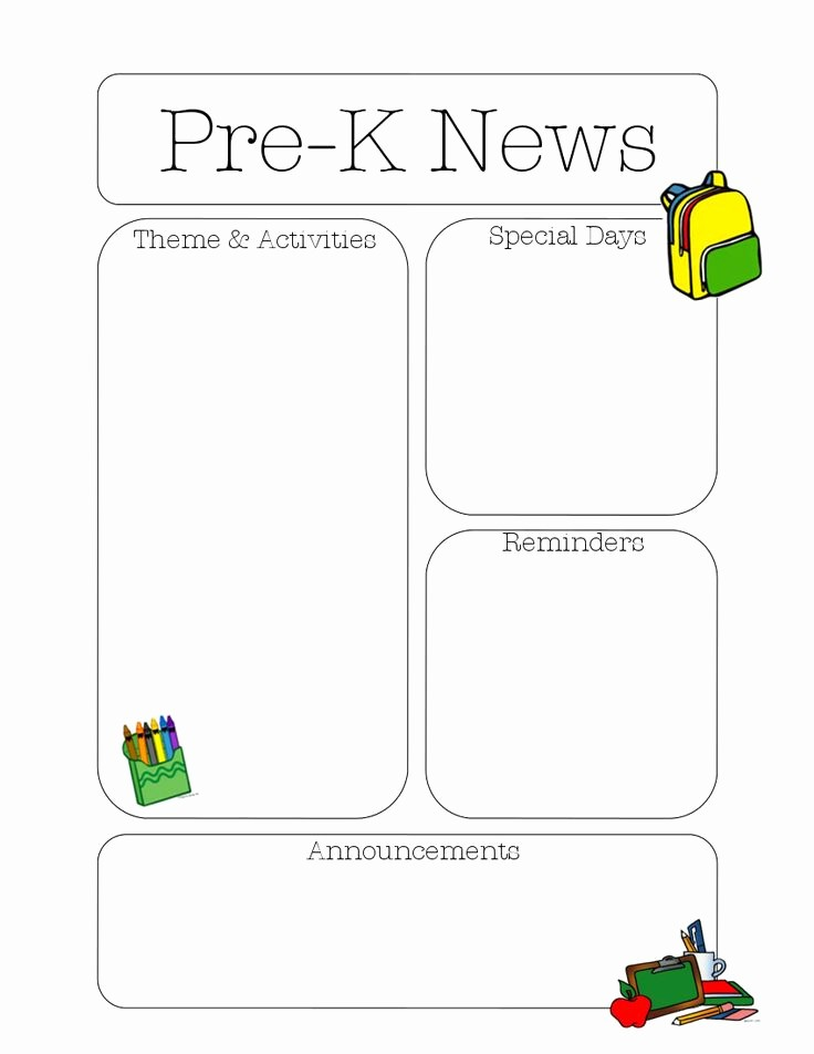 News Letter Templates for Teachers Best Of 50 Best Newsletter Templates Images On Pinterest