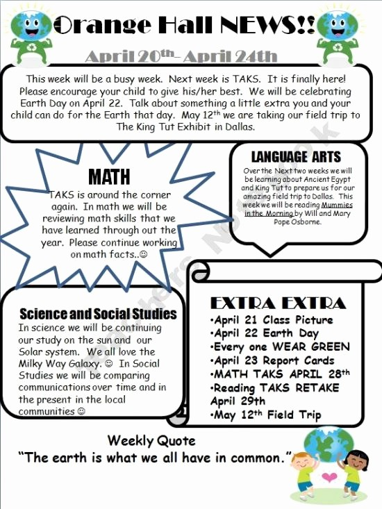 News Letter Templates for Teachers Elegant 69 Best Images About 5th Grade On Pinterest