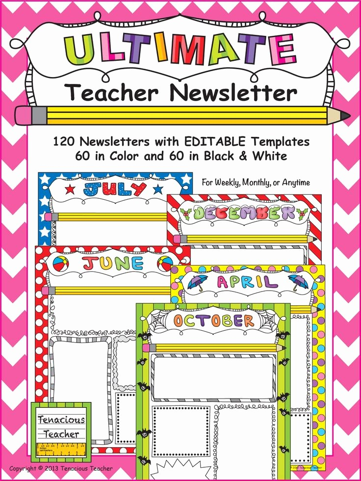 News Letter Templates for Teachers Fresh 50 Best Newsletter Templates Images On Pinterest