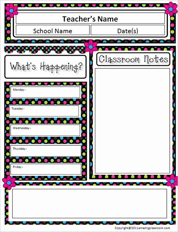 News Letter Templates for Teachers Fresh 9 Awesome Classroom Newsletter Templates & Designs