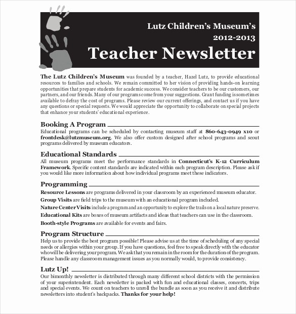 News Letter Templates for Teachers Inspirational Teacher Newsletter Template – 8 Psd Pdf formats Download