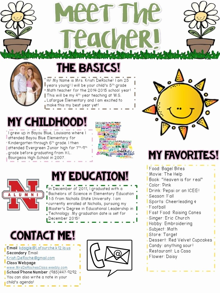 News Letter Templates for Teachers Lovely 25 Best Ideas About Teacher Introduction Letter On