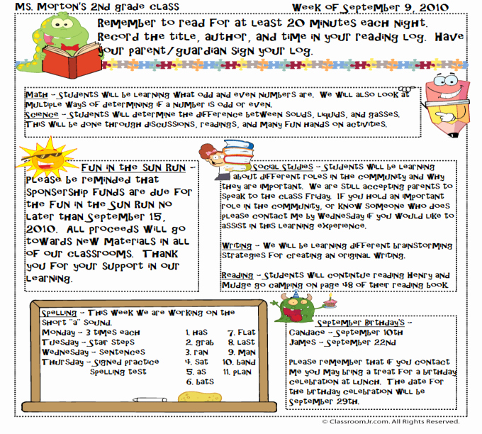 News Letter Templates for Teachers Luxury Free Teacher Newsletter Templates Downloads