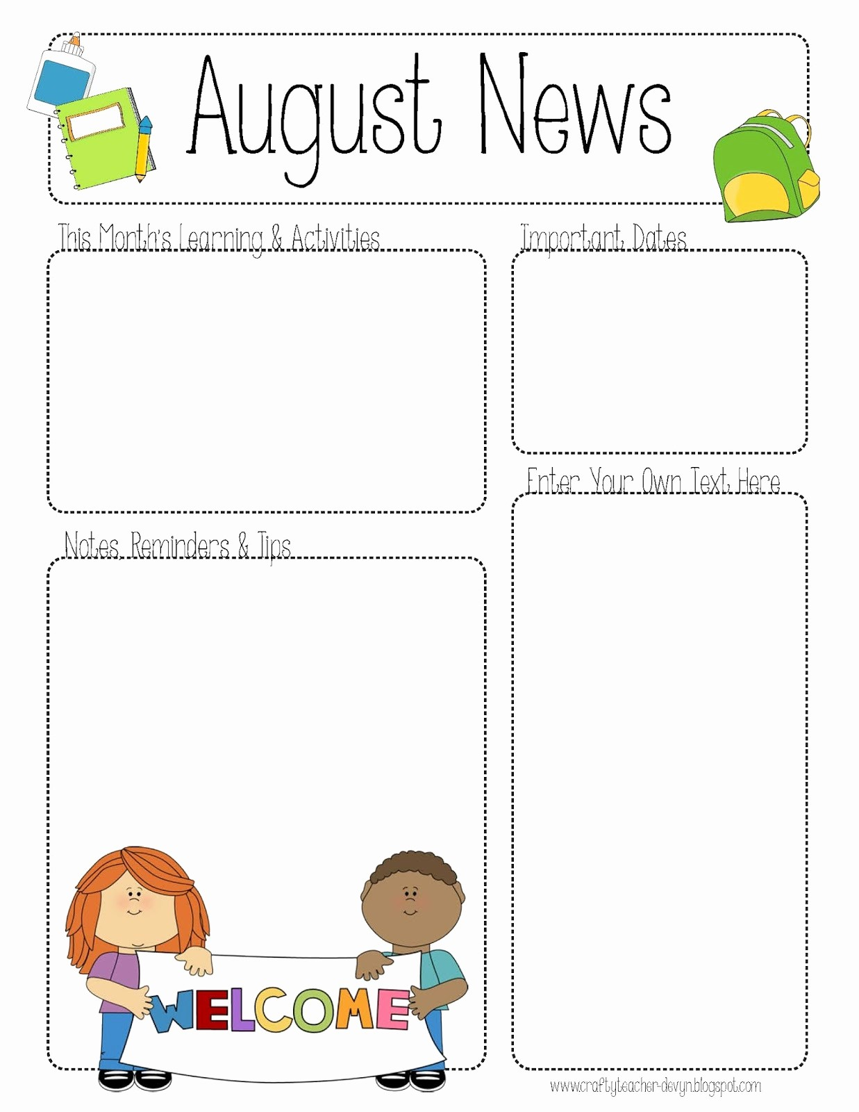 News Letter Templates for Teachers New Free Teacher Newsletter Templates Printable