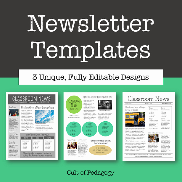 News Letter Templates for Teachers Unique Corkboard Connections why No E Reads Your Classroom