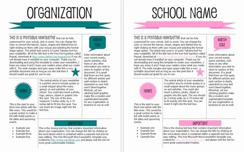 News Letter Templates In Word Awesome 15 Free Microsoft Word Newsletter Templates for Teachers