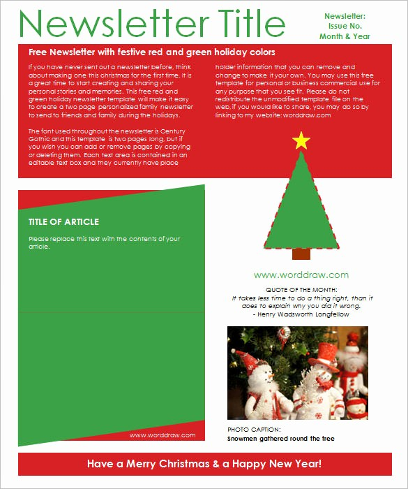 News Letter Templates In Word Awesome 27 Christmas Newsletter Templates Free Psd Eps Ai