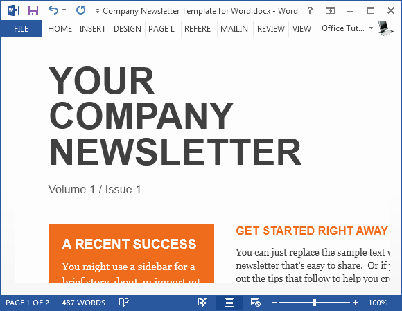 News Letter Templates In Word Awesome Sample Pany Newsletter Template for Word