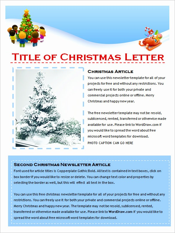 News Letter Templates In Word Beautiful 9 Holiday Newsletter Templates – Free Word Documents