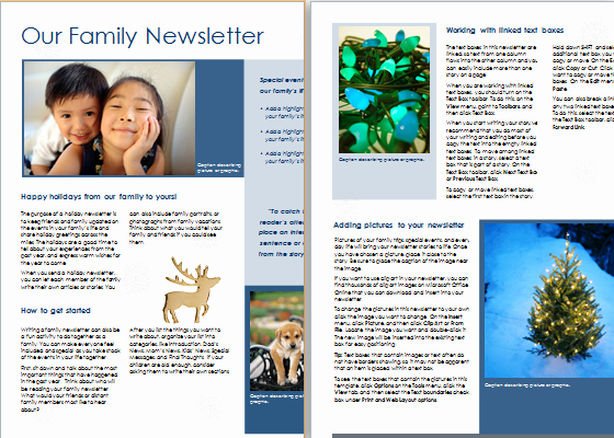 News Letter Templates In Word Best Of Ms Word Christmas Newsletter Template