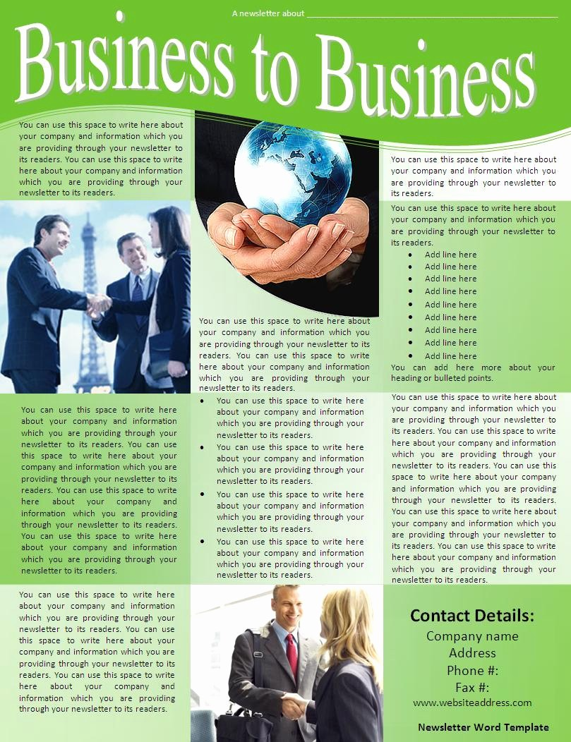 News Letter Templates In Word Elegant 7 Newsletter Word Templates Word Excel Pdf Templates