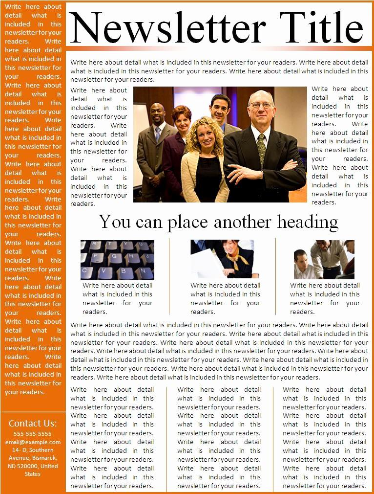 News Letter Templates In Word Elegant Newsletter Templates Word