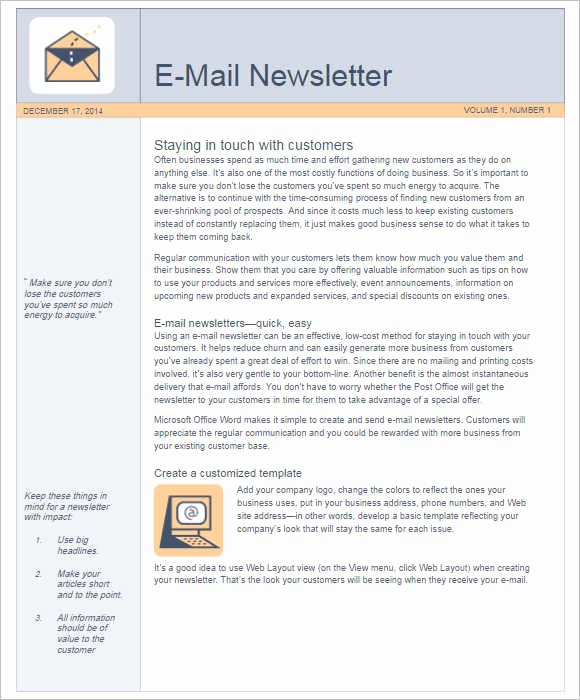 News Letter Templates In Word Inspirational 170 Newsletter Templates Word Free & Premium Documents