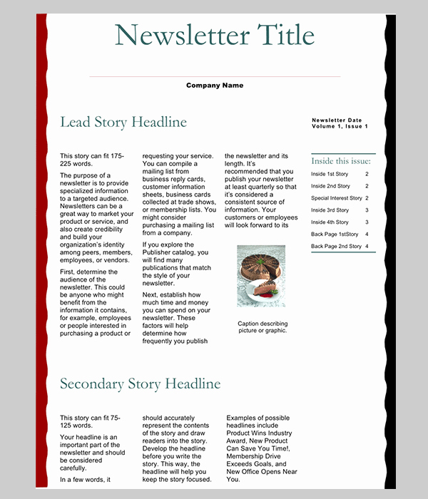 News Letter Templates In Word Inspirational 7 Newsletter Word Templates Word Excel Pdf Templates