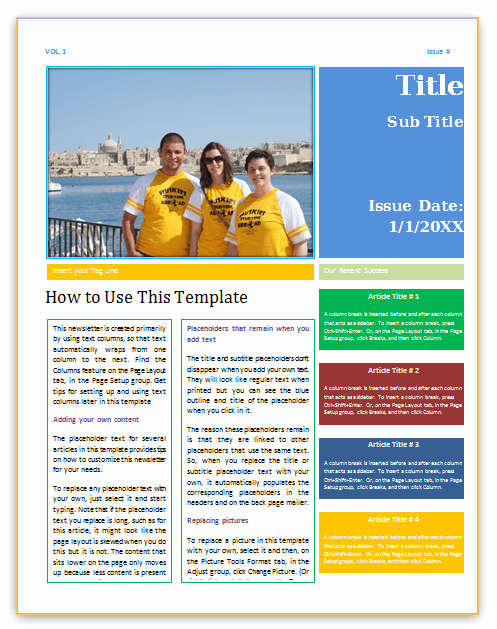 News Letter Templates In Word Lovely Newsletter Template Word