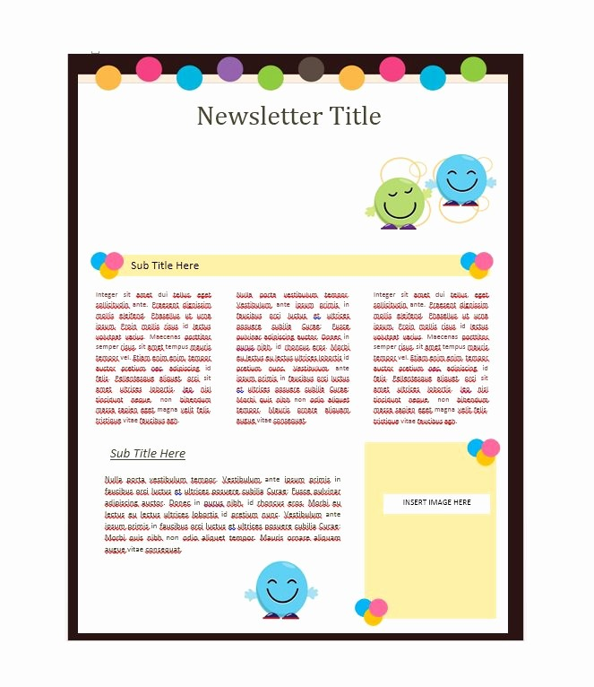 News Letter Templates In Word Unique 50 Free Newsletter Templates for Work School and Classroom