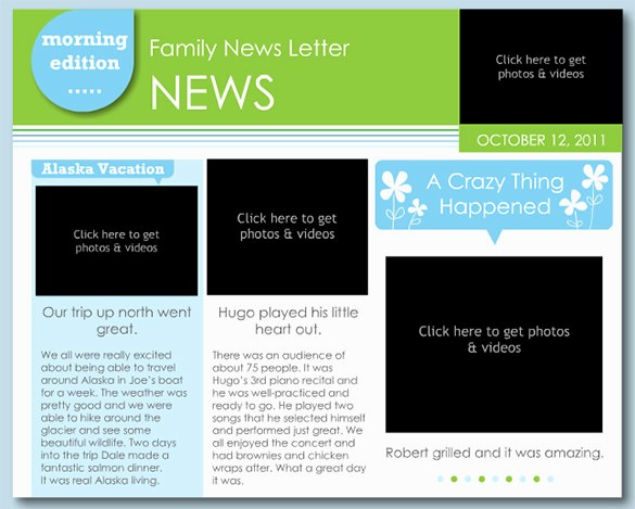 News Letter Templates In Word Unique 7 Family Newsletter Templates – Free Word Documents