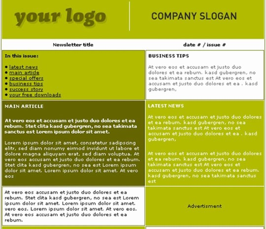 Newsletter Design Templates Free Download Awesome 50 Templates Pour Newsletters Utile Et Gratuit