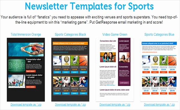 Newsletter Design Templates Free Download Awesome Sports Newsletter Examples 81 Best Newsletter Templates