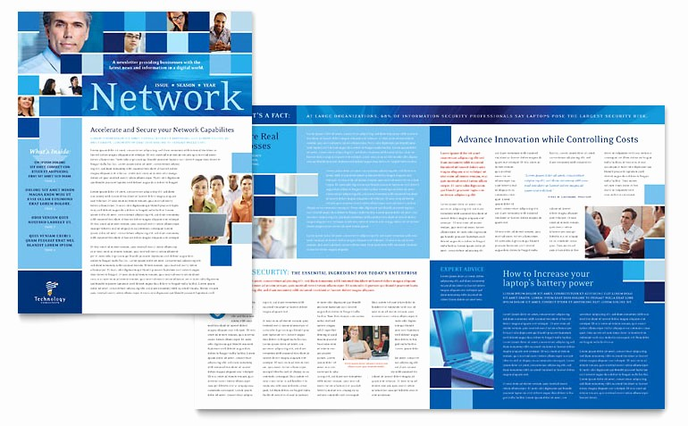 Newsletter Design Templates Free Download Awesome Technology Consulting & It Newsletter Template Word