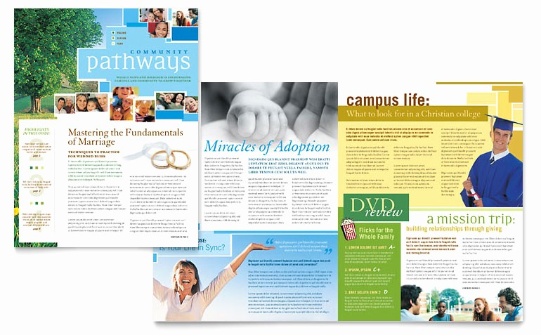 Newsletter Design Templates Free Download Beautiful Munity Church Newsletter Template Word & Publisher