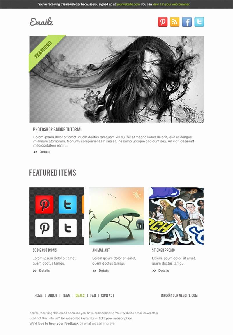 Newsletter Design Templates Free Download Best Of 20 Free Business Newsletter Templates to Download Hongkiat