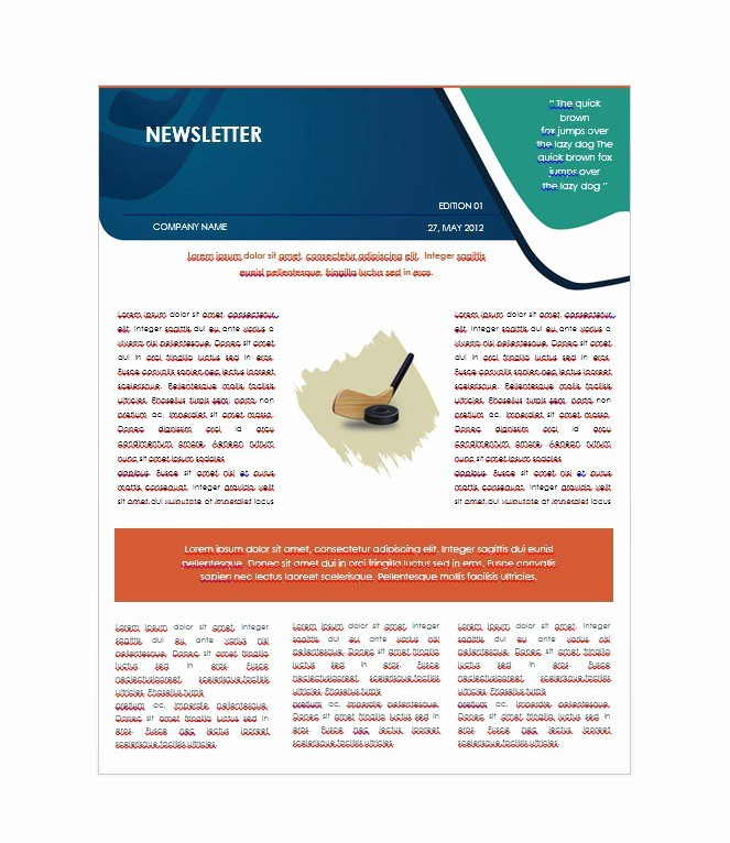 Newsletter Design Templates Free Download Inspirational 50 Free Newsletter Templates for Work School and