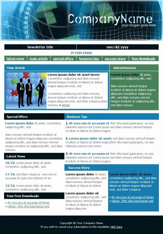 Newsletter Design Templates Free Download Inspirational Business Newsletter Template