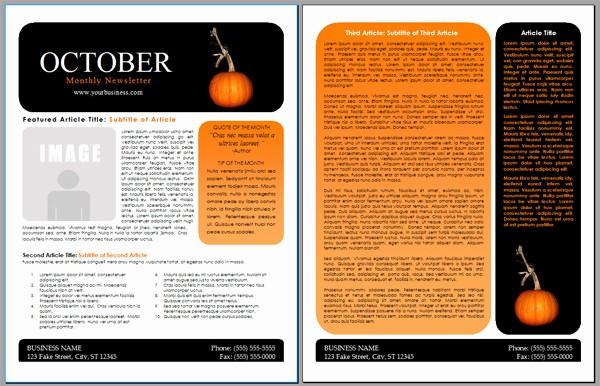 Newsletter Design Templates Free Download Inspirational Worddraw Free Halloween Newsletter Templates