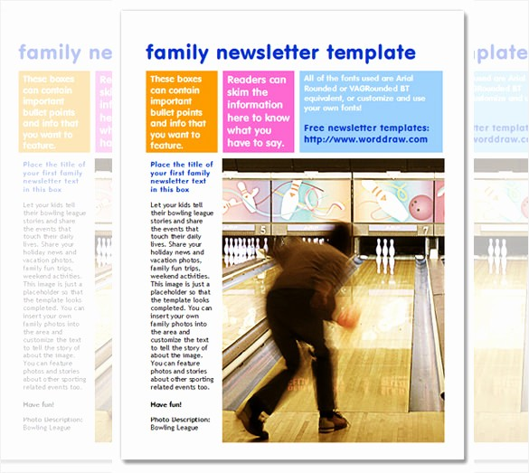 Newsletter Design Templates Free Download Luxury 7 Family Newsletter Templates – Free Word Documents