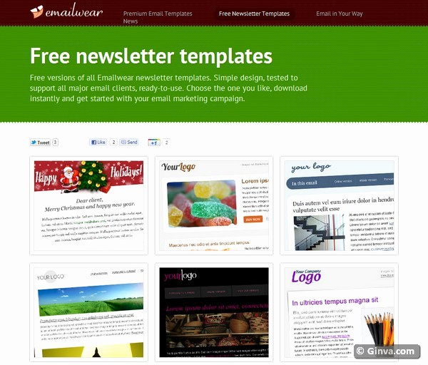 Newsletter Design Templates Free Download New 10 Excellent Websites for Downloading Free HTML Email