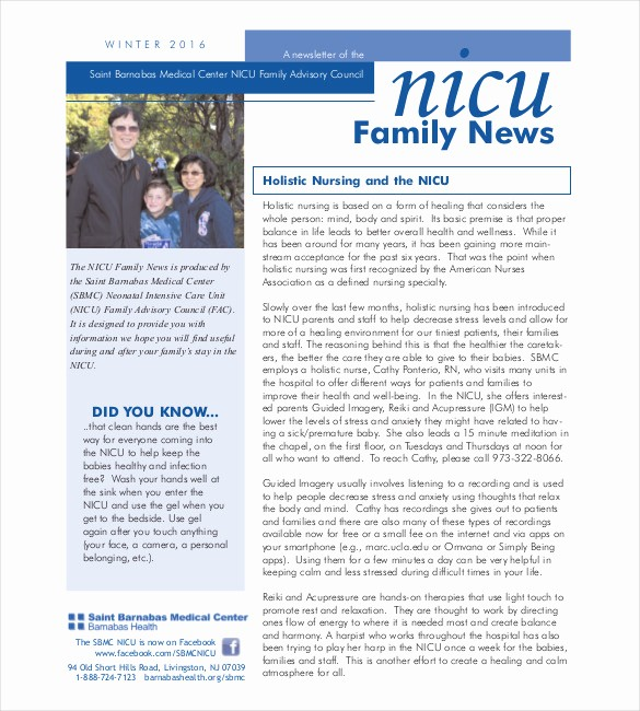 Newsletter Design Templates Free Download New 10 Family Newsletter Templates