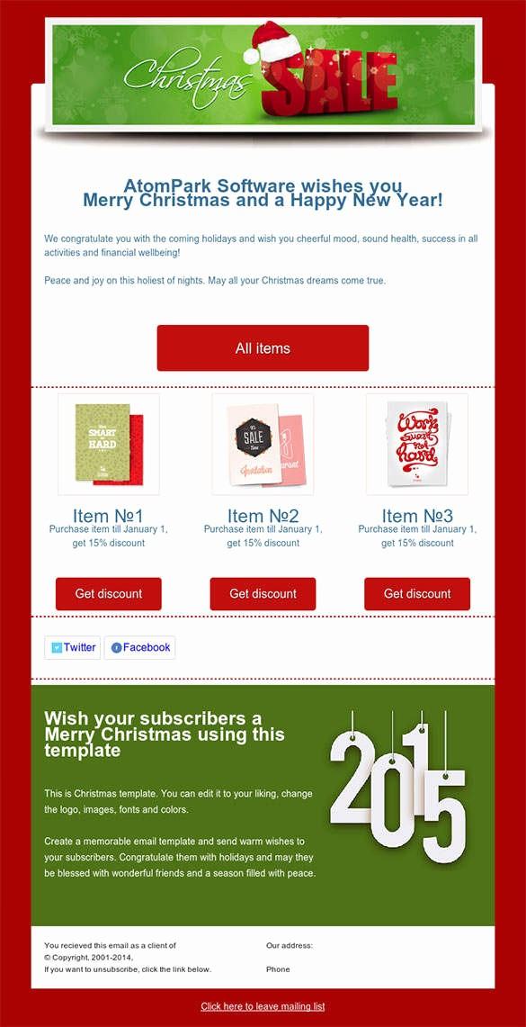 Newsletter Design Templates Free Download New 38 Christmas Email Newsletter Templates Free Psd Eps